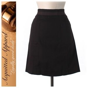 Tory Burch | Brown Ribbon Belted A Line Skirt